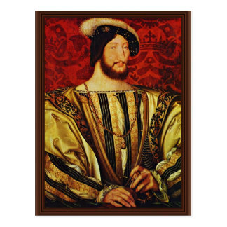 Portrait Of King Francis I Of France,  By Clouet J Postcard