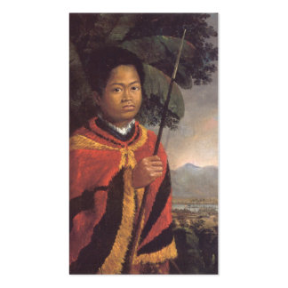 Portrait of King Kamehameha III of Hawaii Double-Sided Standard Business Cards (Pack Of 100)