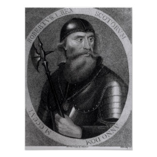Portrait of King Robert I of Scotland Poster