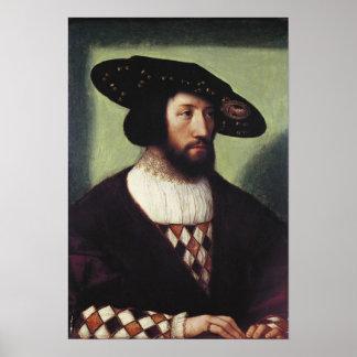 Portrait of Kristian II Posters