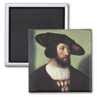Portrait of Kristian II Square Magnet