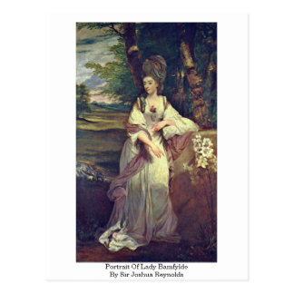 Portrait Of Lady Bamfylde By Sir Joshua Reynolds Postcard