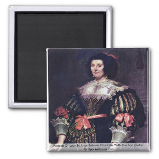 Portrait Of Lady By Anoy Butkens Charlotte Square Magnet