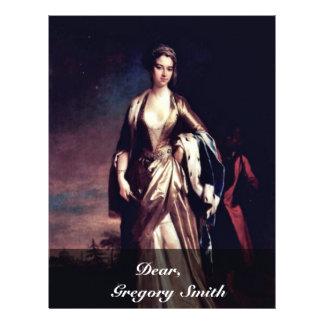 Portrait Of Lady Mary Wortley Montagu,  By Jonatha 21.5 Cm X 28 Cm Flyer