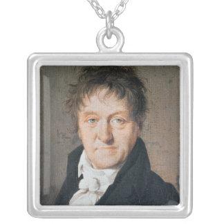 Portrait of Lazare Nicolas Marguerite Carnot Silver Plated Necklace