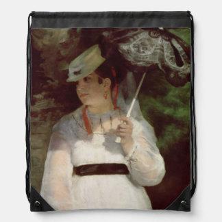 Portrait of Lise, 1867 Drawstring Bag