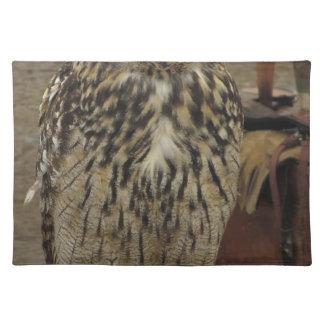 Portrait of long-eared owl . Asio otus, Strigidae Placemat