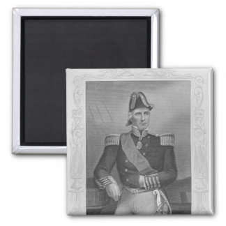 Portrait of Lord Edmund Lyons Square Magnet