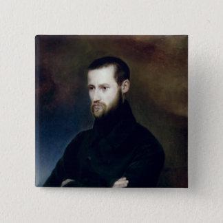 Portrait of Louis-Auguste Blanqui  c.1835 15 Cm Square Badge