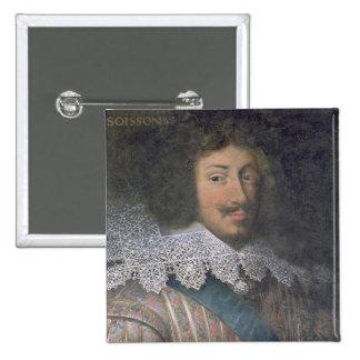 Portrait of Louis of Bourbon  Count of Soissons 15 Cm Square Badge