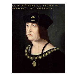 Portrait of Louis XII  King of France Postcard