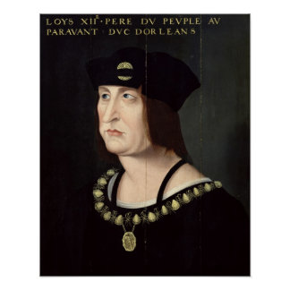 Portrait of Louis XII  King of France Print