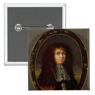 Portrait of Louis XIV 15 Cm Square Badge