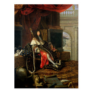 Portrait of Louis XIV  1668 Postcard