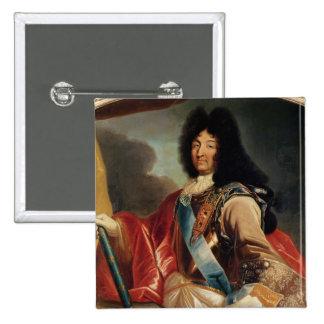 Portrait of Louis XIV 2 15 Cm Square Badge