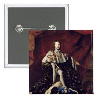 Portrait of Louis XIV  aged 10, 1648 15 Cm Square Badge
