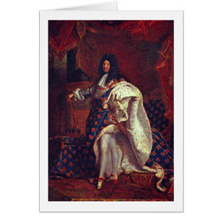 Portrait Of Louis Xiv By Hyacinthe Rigaud Card