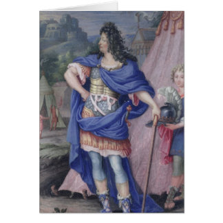 Portrait of Louis XIV  King of France Card