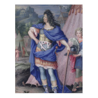 Portrait of Louis XIV  King of France Postcard