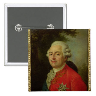 Portrait of Louis XVI  King of France 15 Cm Square Badge