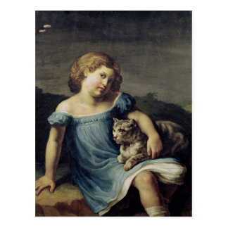 Portrait of Louise Vernet as a Child, 1818-19 Postcard