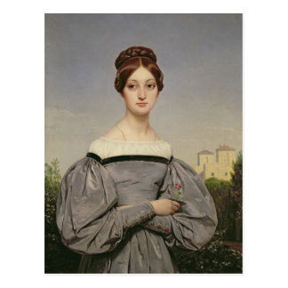 Portrait of Louise Vernet  Daughter of the Postcard