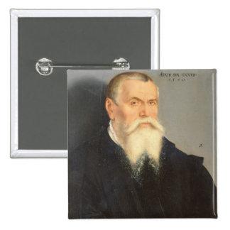 Portrait of Lucas Cranach the Elder (1472-1553) 15 15 Cm Square Badge