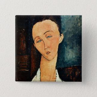 Portrait of Lunia Czechowska, 1918 15 Cm Square Badge