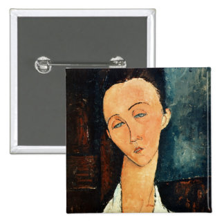 Portrait of Lunia Czechowska, 1918 15 Cm Square Badge