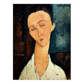 Portrait of Lunia Czechowska, 1918 Postcard