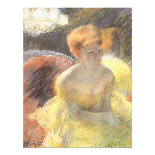 Portrait of Lydia at the Opera by Mary Cassatt Invite