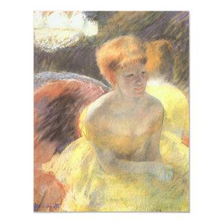 Portrait of Lydia at the Opera by Mary Cassatt 11 Cm X 14 Cm Invitation Card