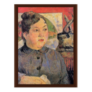 Portrait Of Madame Alexandre Kohler By Gauguin Postcard
