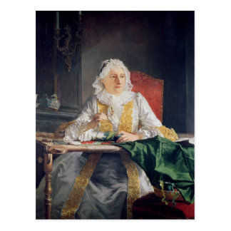 Portrait of Madame Antoine Crozat, 1741 Postcard