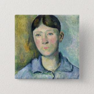 Portrait of Madame Cezanne, 1885-90 15 Cm Square Badge