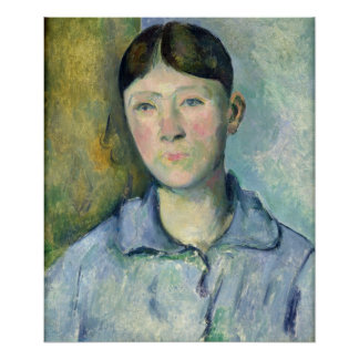 Portrait of Madame Cezanne, 1885-90 Poster