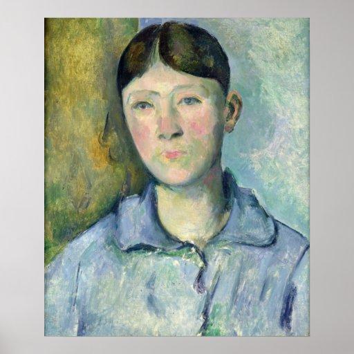 Portrait of Madame Cezanne, 1885-90 Posters