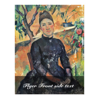 Portrait Of Madame Cezanne In The Greenhouse 21.5 Cm X 28 Cm Flyer