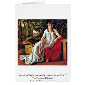 Portrait Of Madame Cotta (Wilhelmina Cotta Card