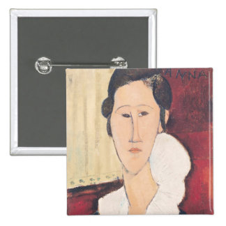 Portrait of Madame Hanka Zborowska, 1917 15 Cm Square Badge