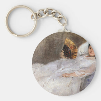Portrait of Madame Hubard by Berthe Morisot Keychains