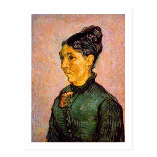 Portrait of Madame Trabuc, Van Gogh Fine Art Postcard