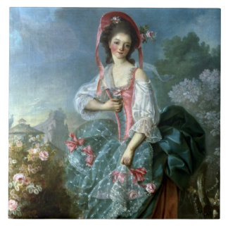 Portrait of Mademoiselle Guimard as Terpsichore, c Ceramic Tile
