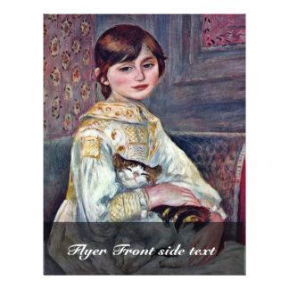 Portrait Of Mademoiselle Julie Manet With Cat 21.5 Cm X 28 Cm Flyer
