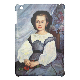 Portrait of Mademoiselle Romaine Lancaux by Renoir iPad Mini Covers