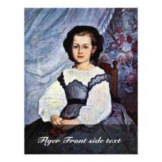 Portrait Of Mademoiselle Romaine Lancaux 21.5 Cm X 28 Cm Flyer