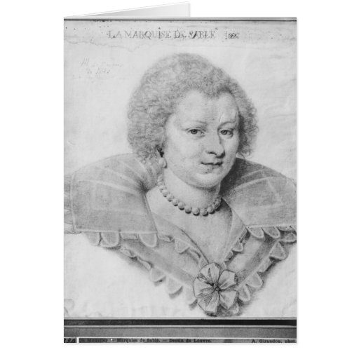 Portrait of Magdeleine de Souvre Greeting Cards