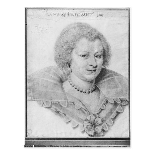 Portrait of Magdeleine de Souvre Postcards