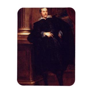 Portrait of Marcello Durazzo (oil on canvas) Magnet