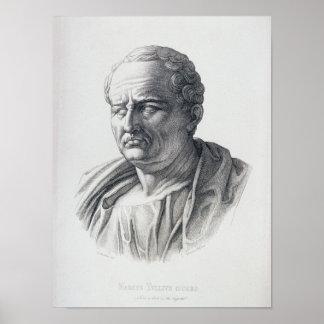 Portrait of Marcus Tullius Cicero Poster